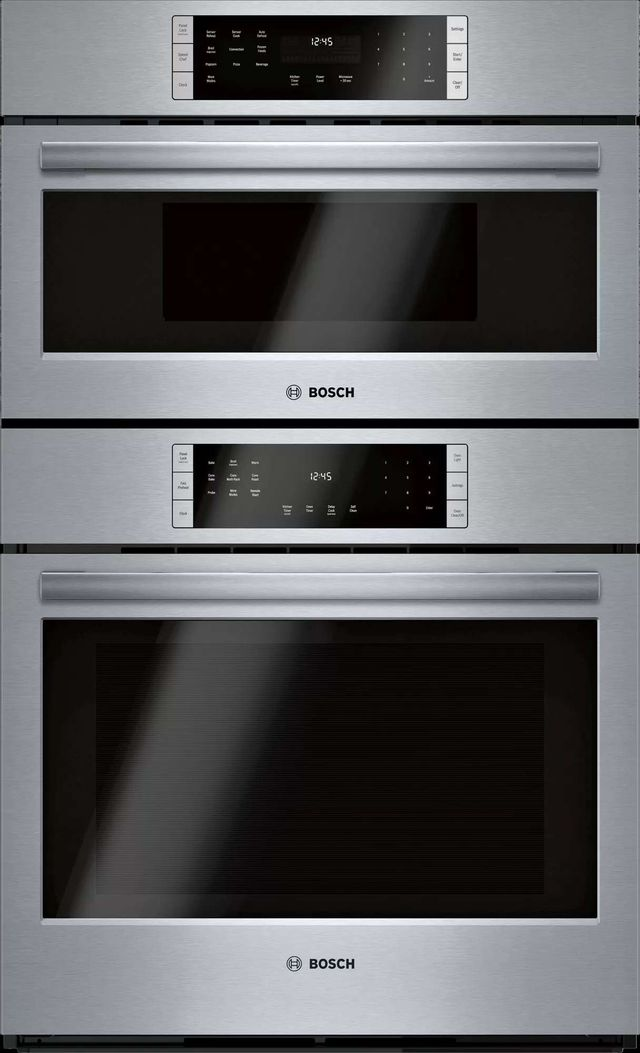 """Bosch 800 Series 29.75"""" Stainless Steel Electric Oven/Micro Combo Built In-HBL8753UC"""