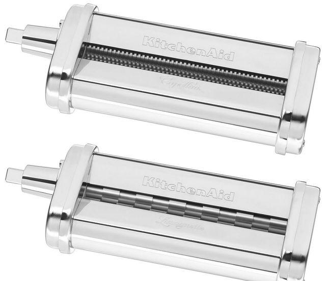 KitchenAid® 2-Piece Stainless Steel Pasta Cutter Set Stand Mixer Attachment-KSMPCA