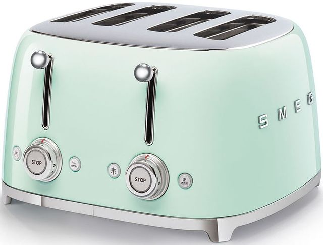 Smeg 50's Retro Style Aesthetic Pastel Green 4x4 Slice Toaster-TSF03PGUS