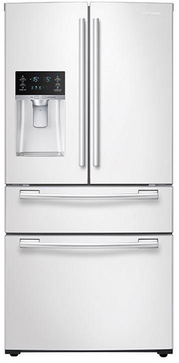 Samsung 25 Cu. Ft. 4-Door French Door Refrigerator-White-RF25HMEDBWW