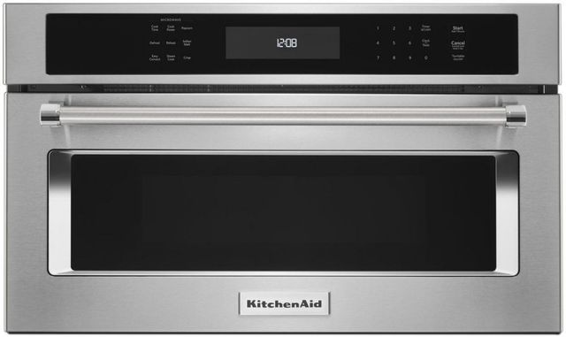 """KitchenAid® 29.75"""" Stainless Steel Built In Microwave Oven-KMBP100ESS"""