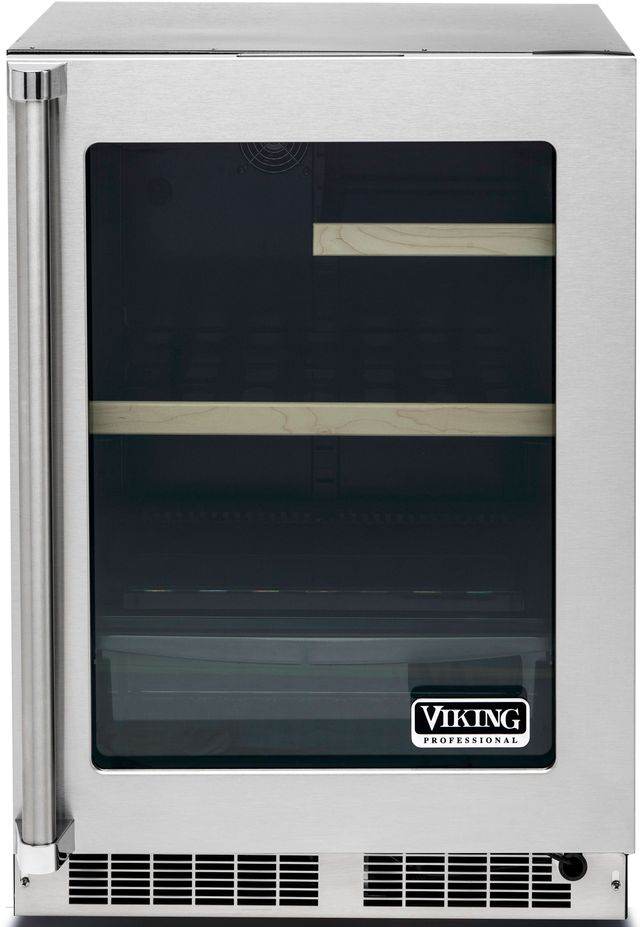 Viking® Professional 5 Series 5.3 Cu. Ft. Stainless Steel Frame Undercounter Refrigerator-VRUI5240GRSS