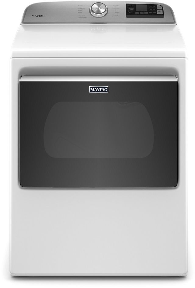 Maytag® 7.4 Cu. Ft. White Front Load Gas Dryer-MGD6230HW
