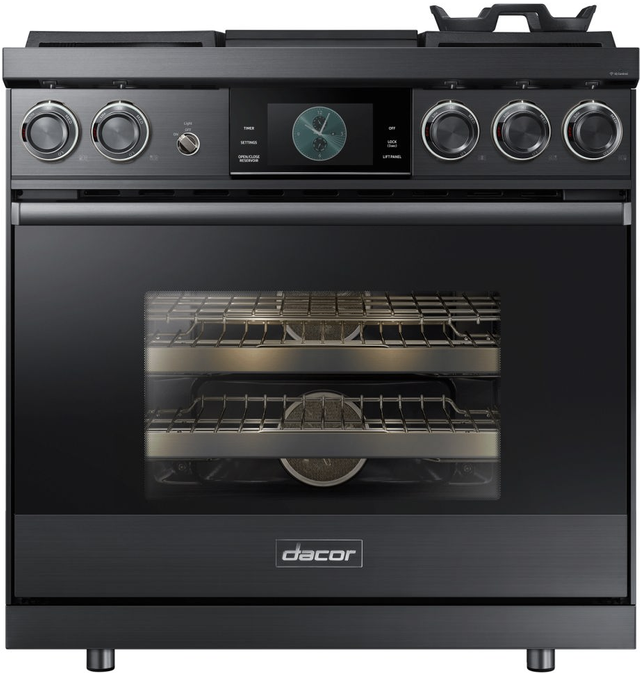 """Dacor® Contemporary 36"""" Pro Dual-Fuel Steam Range-Graphite Stainless Steel-DOP36M94DHM"""