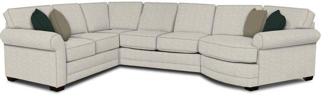 England Furniture Co. Brantley 4 Piece Culpepper Snow/Alvarado Mineral/Horizon Sky Sectional-5630-28-22-43-95+8613+8634+8601