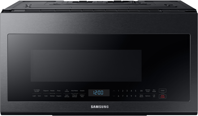 Samsung Over The Range Microwave-Fingerprint Resistant Black Stainless Steel-ME21M706BAG