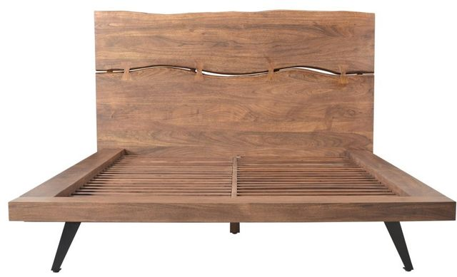 Lit à panneaux très grand Madagasikara, brun, Moe's Home Collections®-UH-1007-03