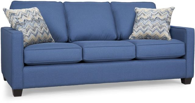 "Decor-Rest® Furniture LTD 2855 79"" Blue Sofa-2855-79-SOFA BLUE"