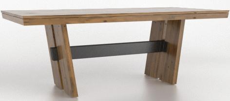 Table à manger rectangulaire East Side Canadel®-TRE04084-ER