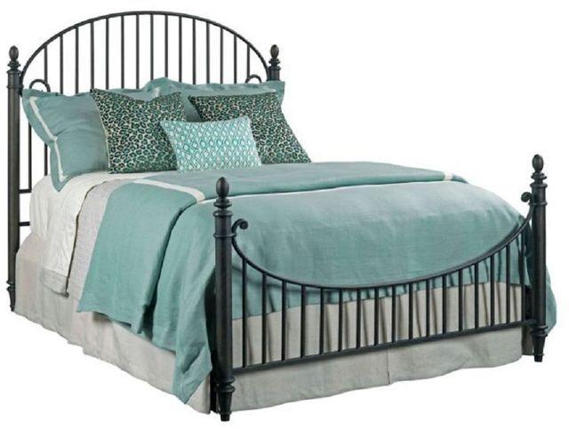 Kincaid Furniture Weatherford Cornsilk Catlins Black Queen Metal Bed-75-125P