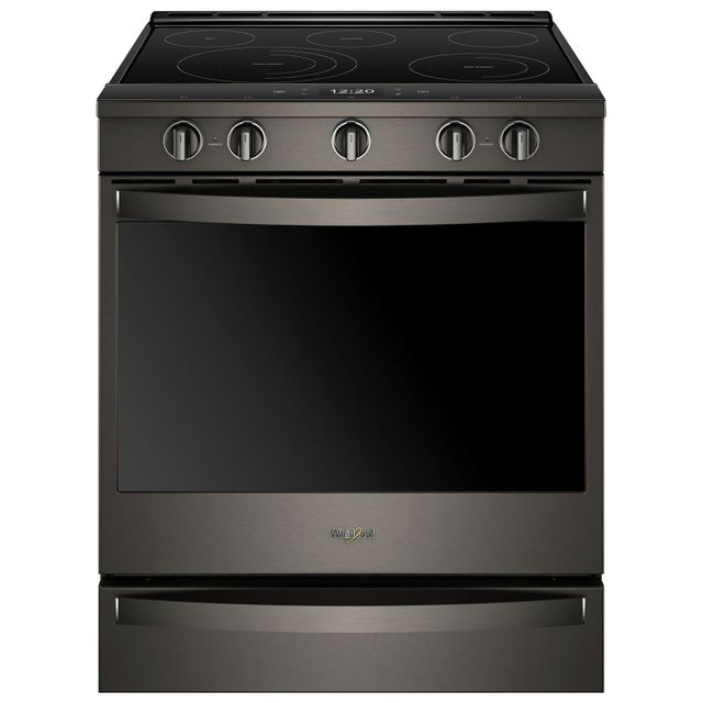 Whirlpool® 6.4 Cu. Ft. Black Stainless Slide In Electric Range-YWEE750H0HV