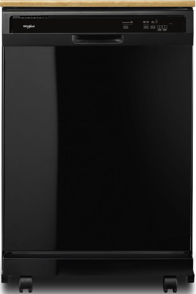 "Whirlpool® 24"" Portable Dishwasher-Black-WDP370PAHB"