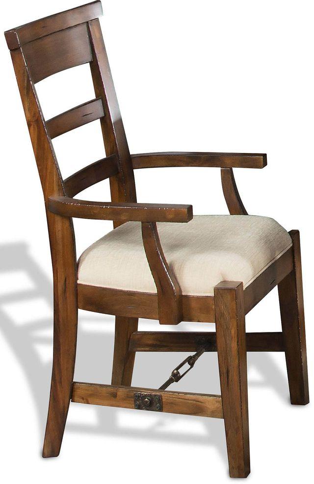 Sunny Designs Tuscany Vintage Mocha Ladderback Arm Chair-1605VM