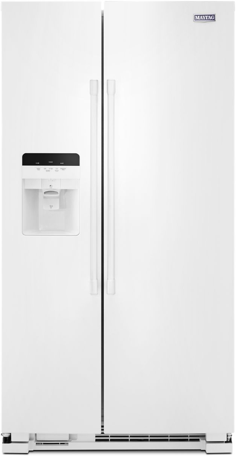 Maytag® 24.51 Cu. Ft. White Side By Side Refrigerator-MSS25C4MGW