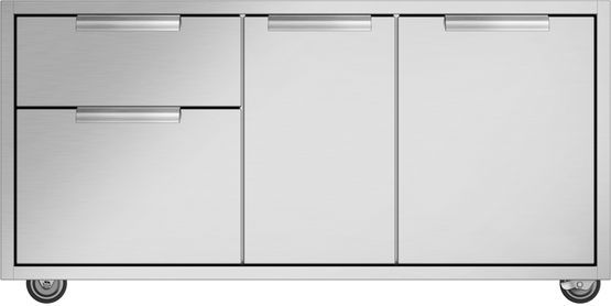 """DCS Outdoor Cooking Series 7 47.94"""" Brushed Stainless Steel CAD Grill Cart-CAD1-48"""