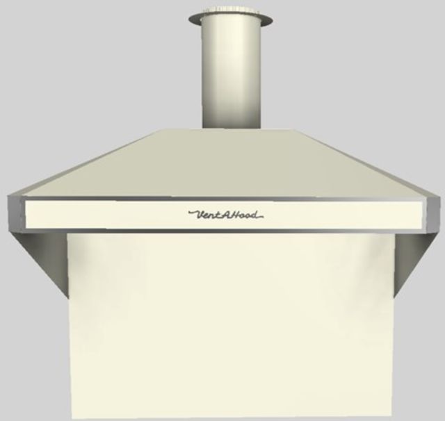 """Vent-A-Hood® A Series 48"""" Retro Style Wall Mounted Range Hood-Biscuit-AH12-248 BT"""