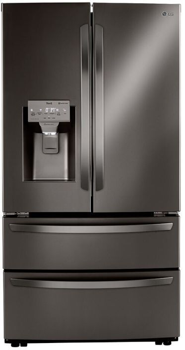 LG 22 Cu. Ft. Black Stainless Steel Counter Depth French Door Refrigerator -LMXC22626D