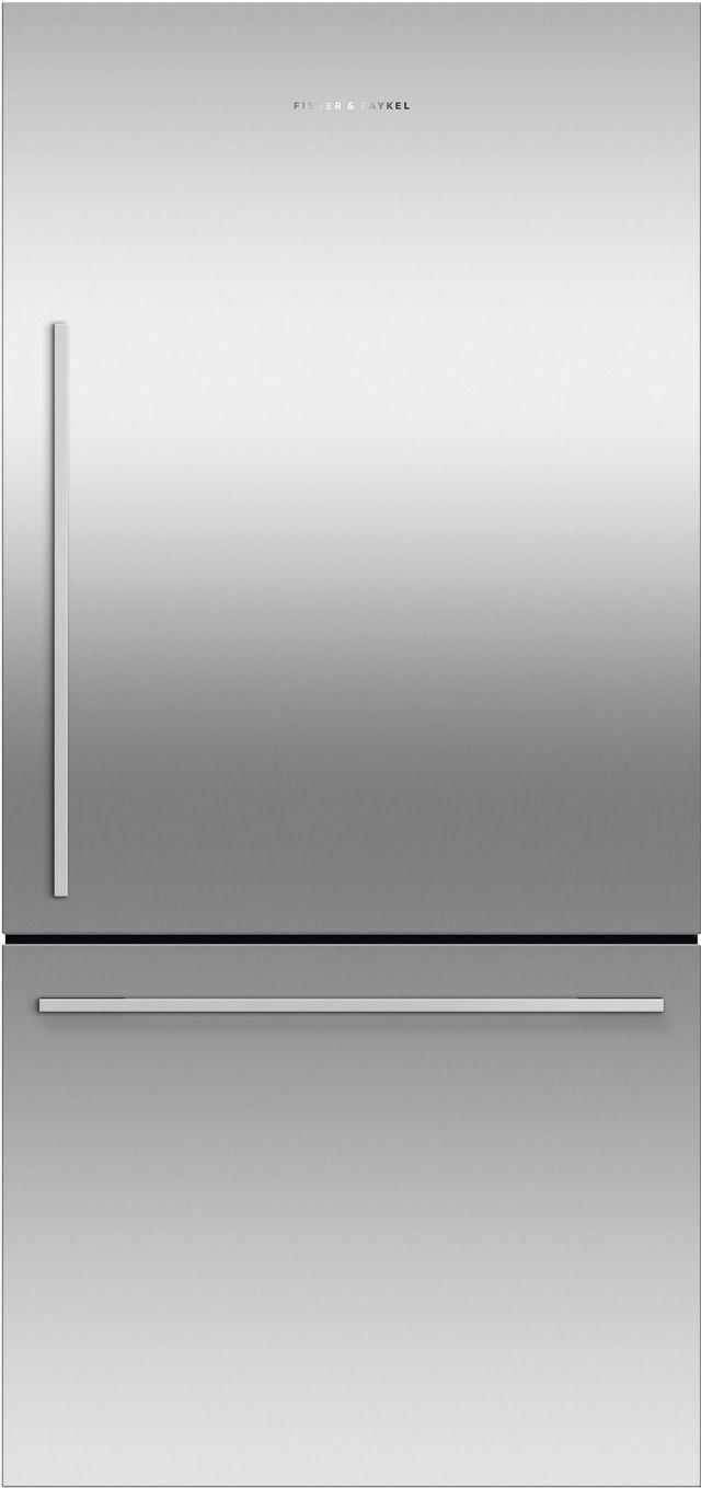 Réfrigérateur à congélateur inférieur à profondeur de comptoir de 32 po Fisher Paykel® de 17,1 pi³ - Acier inoxydable-RF170WDRX5 N