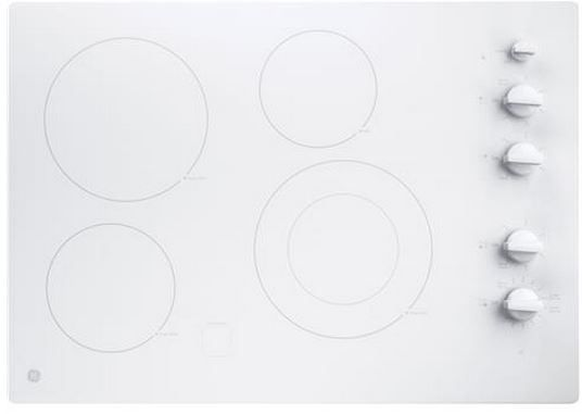 """GE® 30"""" Electric Cooktop-White-JP3530TJWW"""