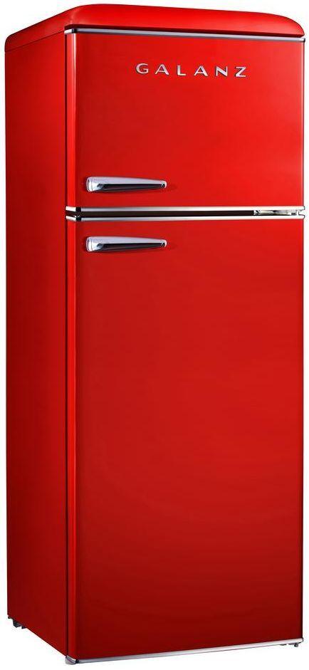 Galanz 7.6 Cu. Ft. Red Top Mount Freezer Refrigerator-GLR76TRDER