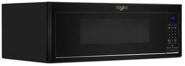 Whirlpool® 1.1 Cu. Ft. Black Low Profile Microwave Hood Combination-WML35011KB