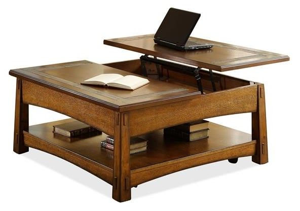 Riverside Furniture Craftsman Home Square Lift Top Coffee Table-2901