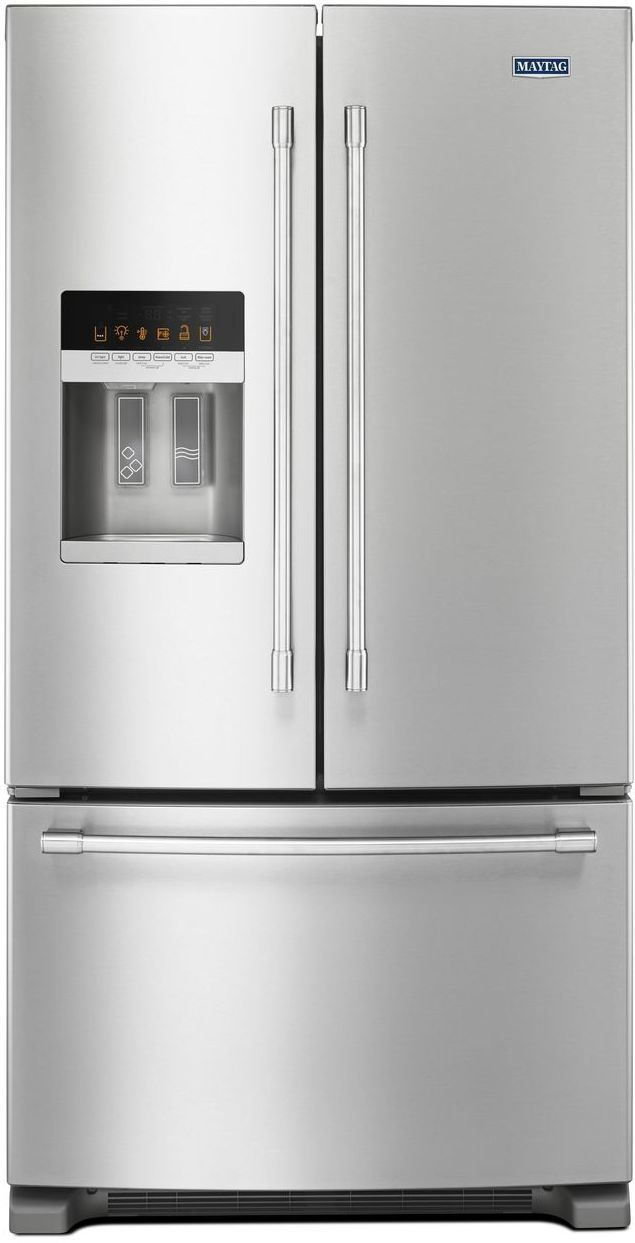 Maytag® 24.70 Cu. Ft. Fingerprint Resistant Stainless Steel French Door Refrigerator-MFI2570FEZ