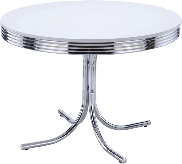 Coaster® Retro Chrome Plated Dining Table-2388
