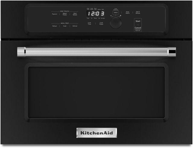 "KitchenAid® 23.75"" Black Built In Microwave Oven-KMBS104EBL"