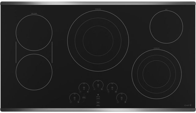 """Café™ 36"""" Stainless Steel Built in Electric Cooktop-CEP90362NSS"""