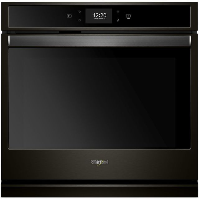 """Whirlpool® 27"""" Electric Single Oven Built In-Print Resist Black Stainless-WOS72EC7HV"""