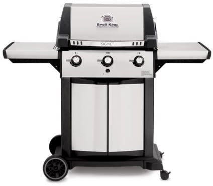 """Broil King® Signet™ 320 Series 23.2"""" Black with Stainless Steel Freestanding Grill-986854"""