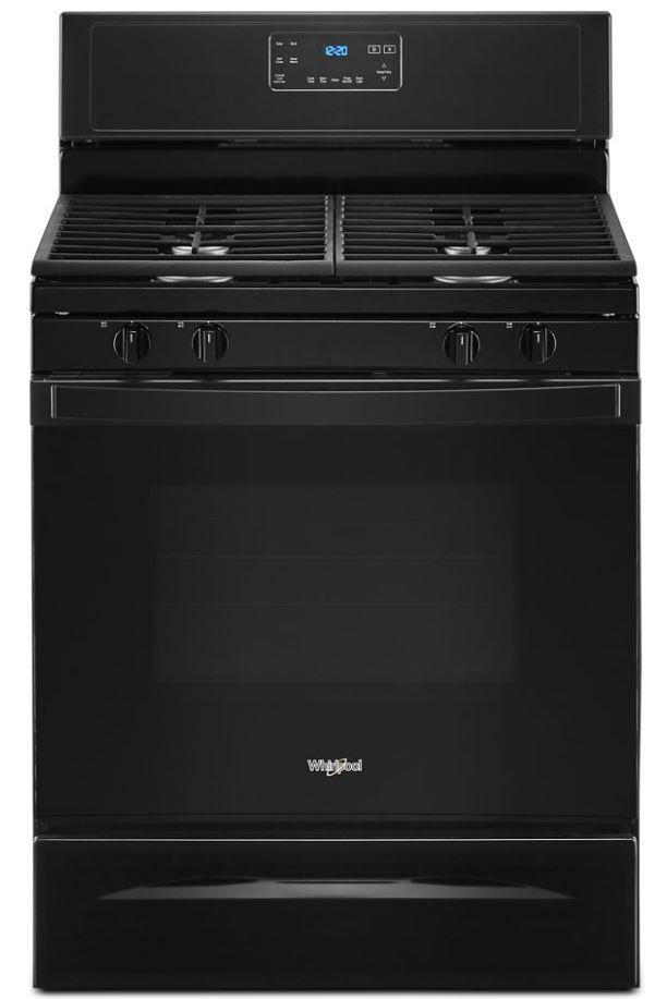 "Whirlpool® 30"" Black Free Standing Gas Range-WFG515S0JB"