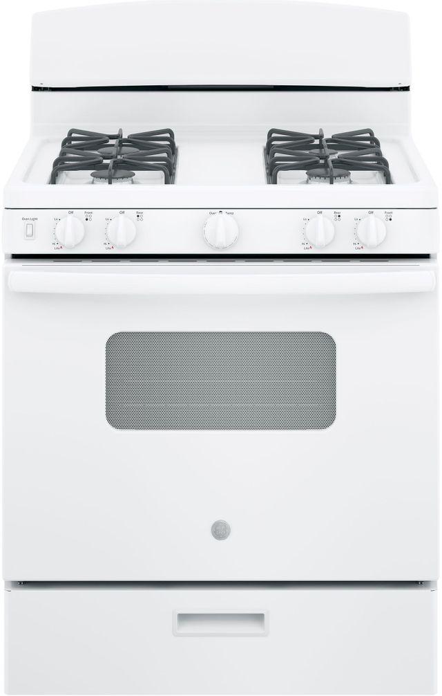 "GE® 30"" Free Standing Gas Range-White-JGBS10DEMWW"