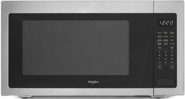 Whirlpool® Countertop Microwave-Black On Stainless-WMC50522HS