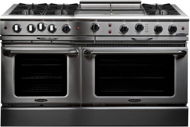 """Capital Culinarian 60"""" Stainless Steel Free Standing Gas Range-CGSR604GG2L"""