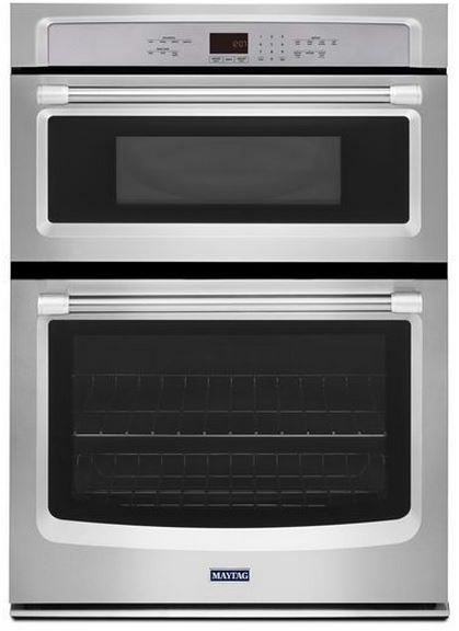 """Maytag 30"""" Electric Oven/Microwave Combination-Stainless Steel-MMW7730DS"""