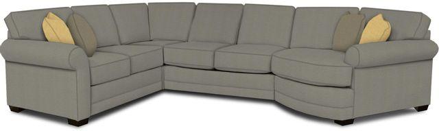 England Furniture Co. Brantley 4 Piece Culpepper Cement/Alvarado Mineral/Dream Daffodil Sectional-5630-28-22-43-95+8612+8537+8601