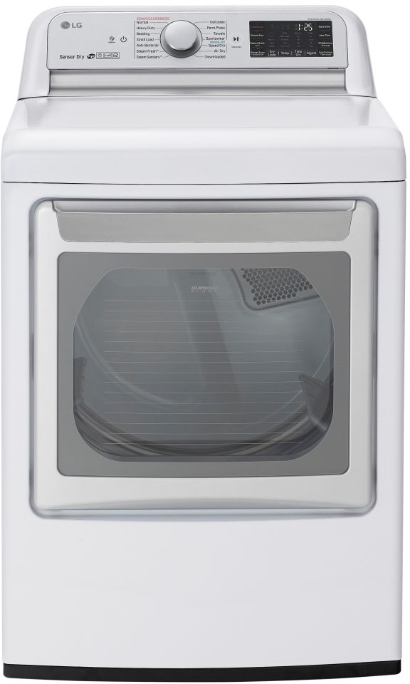 LG 7.3 Cu. Ft. White Front Load Electric Dryer-DLEX7800WE