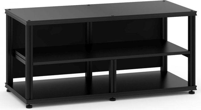 Salamander Designs® Synergy Open Center Twin 20 AV Cabinet-Black-SNC20B/B