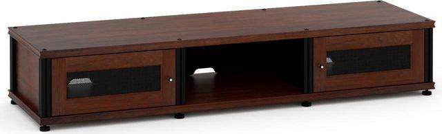 Salamander Designs® Synergy Model 132 AV Cabinet-Dark Walnut/Black-SB132W/B