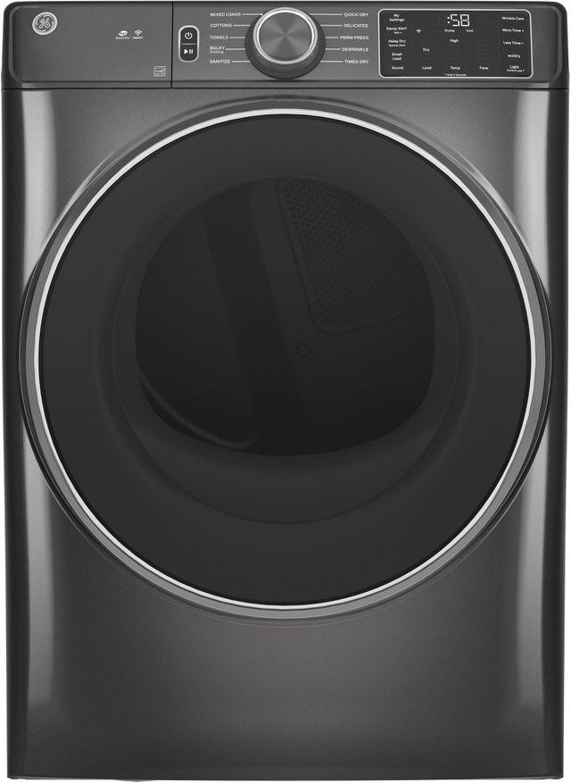 GE® 7.8 Cu. Ft. Diamond Gray Smart Front Load Electric Dryer-GFD55ESPNDG