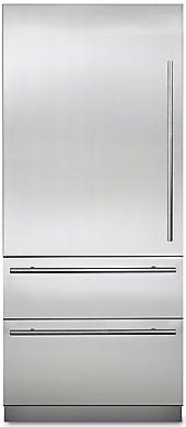 Viking® Virtuoso 6 Series 20 Cu. Ft. Stainless Steel Fully Integrated Bottom Freezer Refrigerator-MVBI7360WLSS