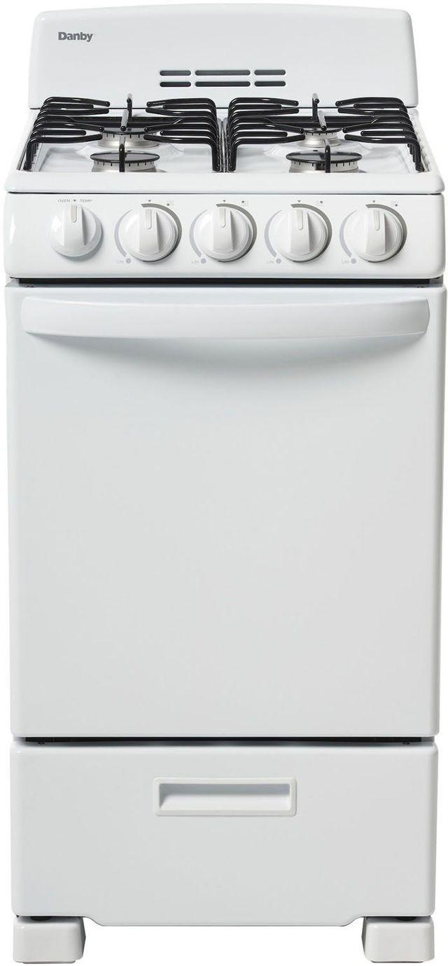 "Danby® 20"" White Free Standing Gas Range-DR202WGLP"