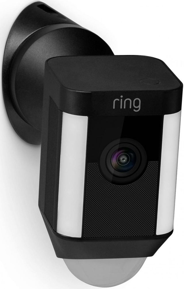 Ring Black Spotlight Wired Cam Wall Mount-8833975779417