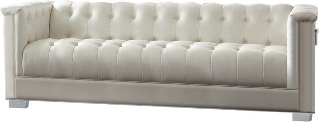 Coaster® Chaviano Pearl White Sofa-505391