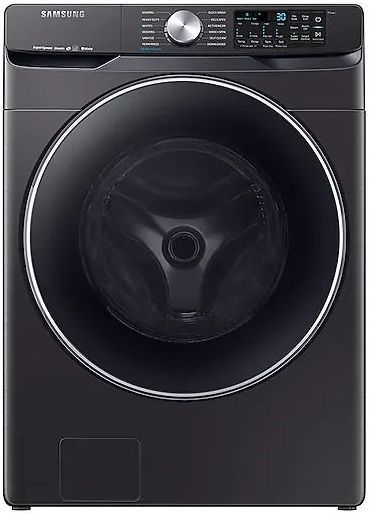 Samsung 4.5 Cu. Ft. Fingerprint Resistant Black Stainless Steel Front Load Washer-WF45R6300AV