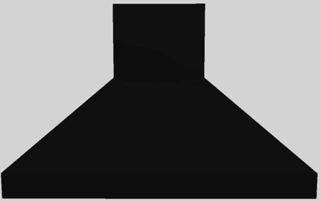 """Vent-A-Hood® 48"""" Euro-Style Island Range Hood-Black-EPITH18-448 BL"""
