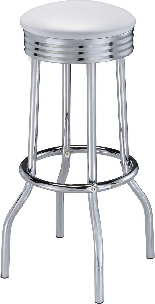 Coaster® Retro Silver Soda Fountain Bar Stool-2299W