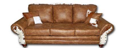 Million Dollar Rustic Chestnut Sofa-20-4224-SOFA-CH-CHES